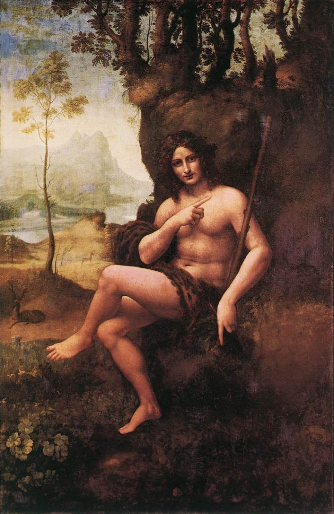"""""""Baccus"""" (1510-1515, Leonardo, Museo del Louvre)."""