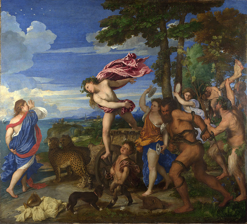 """Bacco e Arianna"" (1520-1523, Tiziano, National Gallery)."