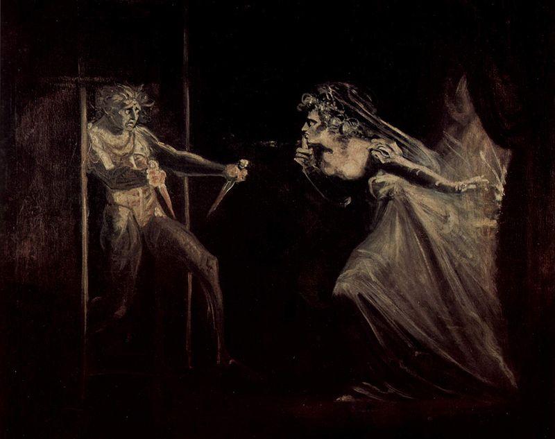 shakespeare - Lady Macbeth afferra i pugnali - Johann Heinrich Füssli