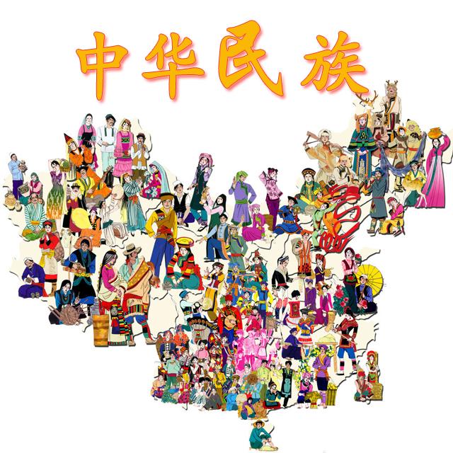 Gruppi etnici cinesi- disegno riassuntivo - @ Xixik.com