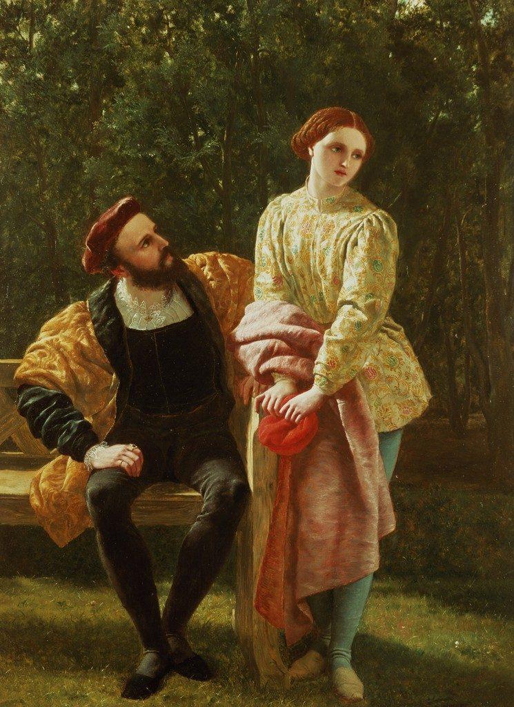 Orsino e viola - Frederick Richard Pickersgill