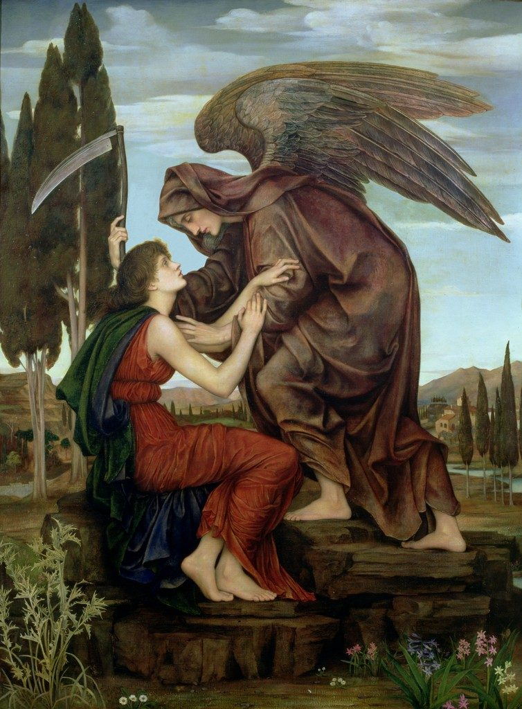 L'angelo della morte, Evelyn De Morgan 1881