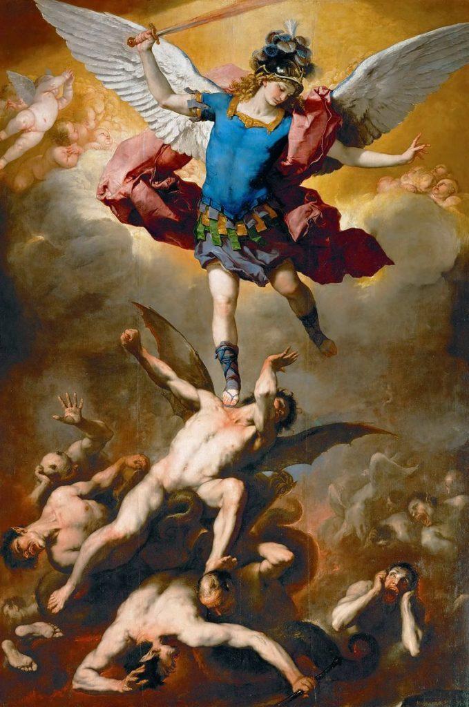 morte La caduta degli angeli ribelli, Luca Giordano 1666