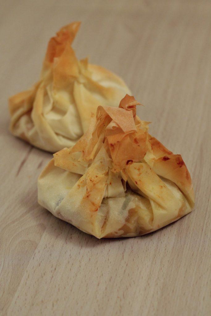 fagottini di zucca in pasta fillo