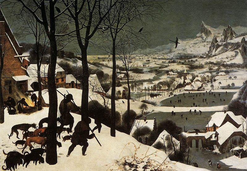 """ALT=""""Cacciatori sulla neve Bruegel"""" - L'inverno attraverso l'arte"""