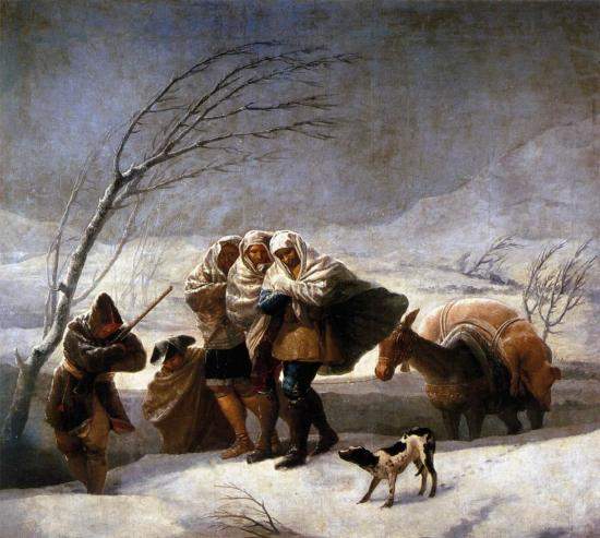 """ALT=""""La Nevada di Goya"""" - L'inverno attraverso l'arte"""