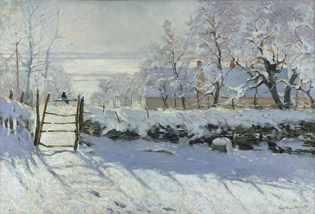 """ALT=""""La gazza di Monet"""" - L'inverno attraverso l'arte"""