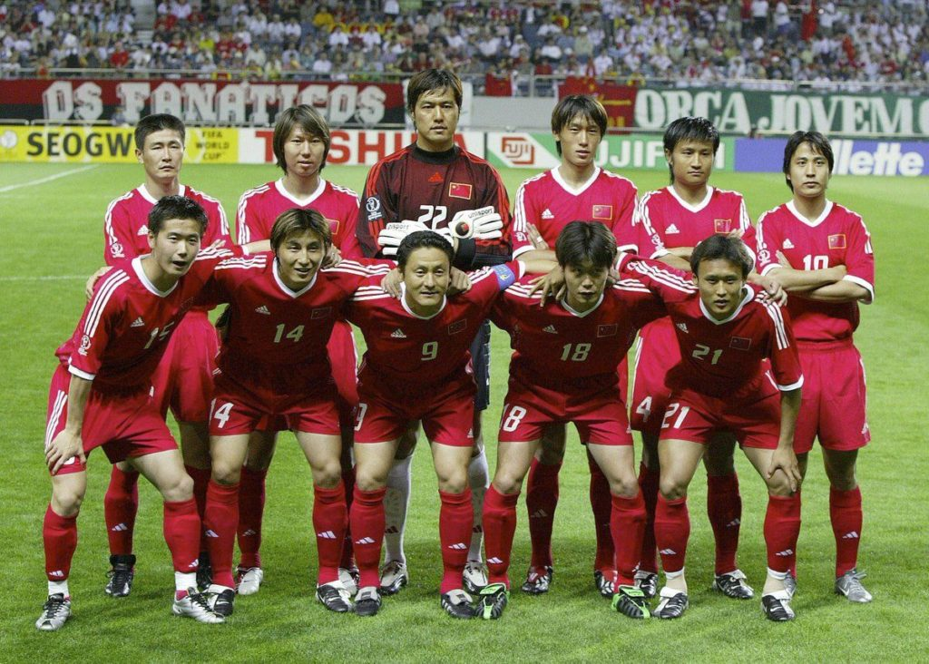 Sport in Cina - Nazionale cinese di calcio ai mondiali