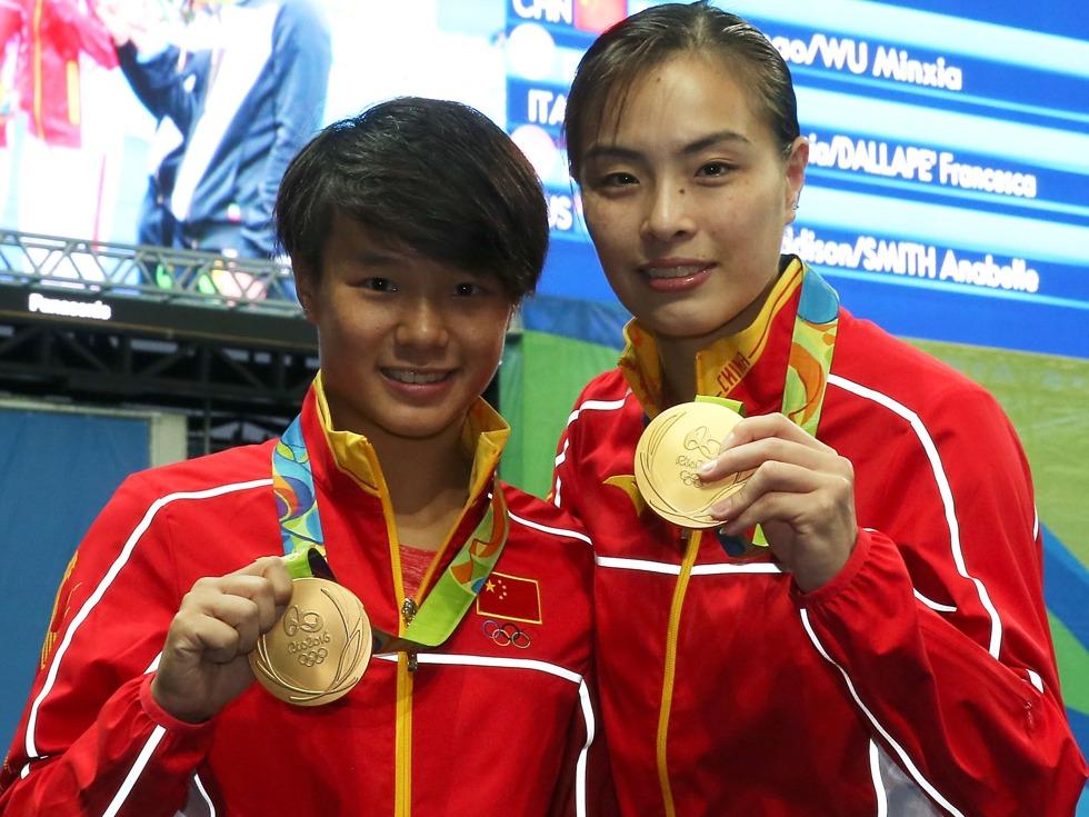 Sport in Cina - Le tuffatrici Shi Tingmao e Wu Minxia