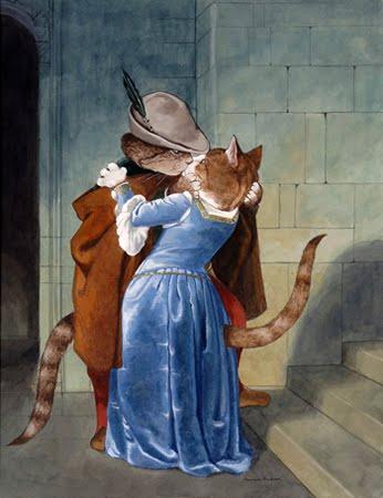 """I gatti di Susan Herbert: """"Il bacio"""""""