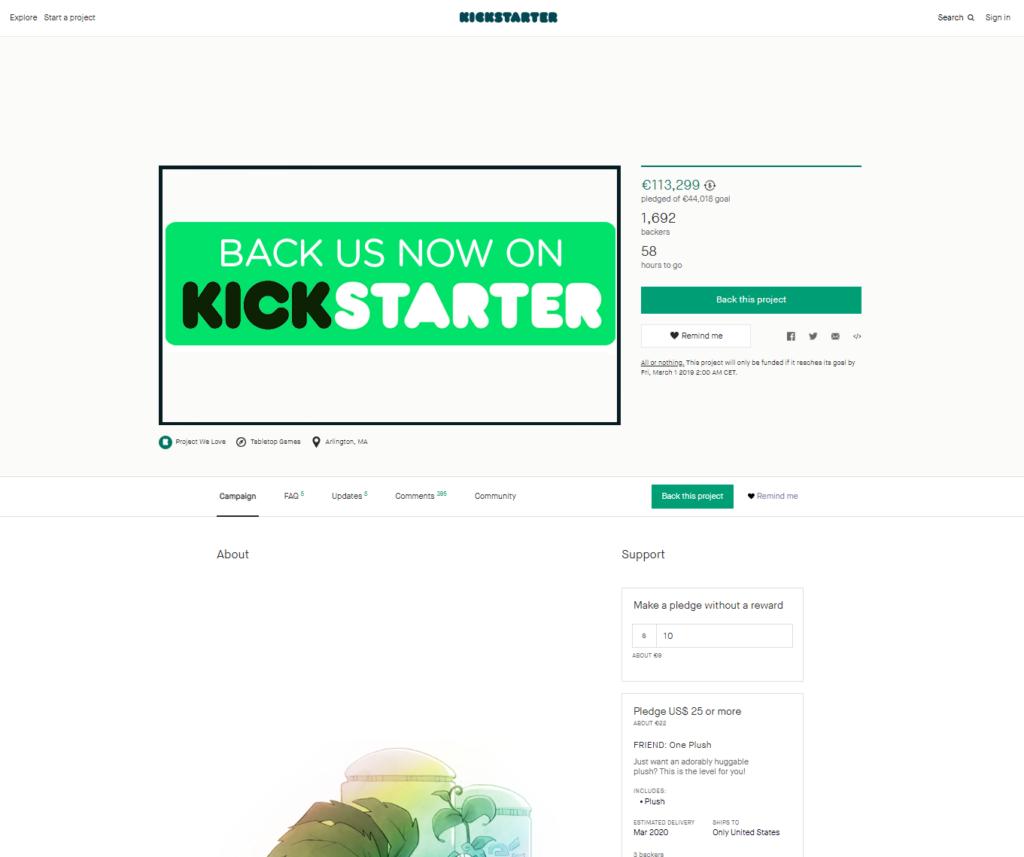 Giochi da tavolo e Kickstarter