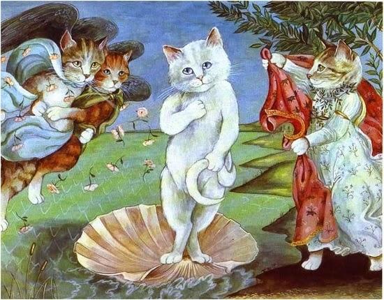 """I gatti di Susan Herbert: """"La nascita di Venere"""""""