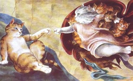 """I gatti di Susan Herbert: """"La creazione di Adamo"""""""