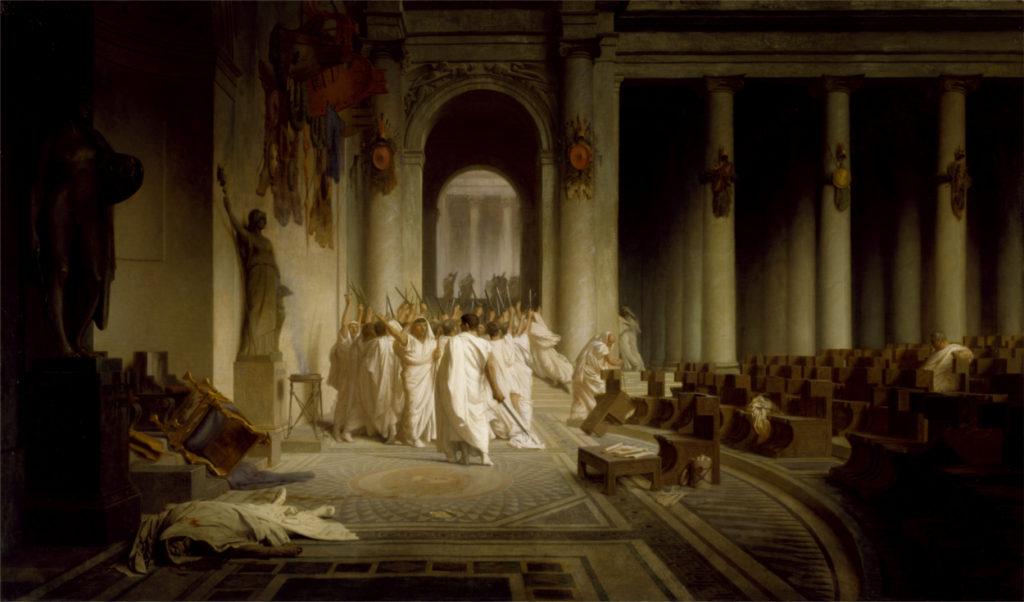 La morte di Cesare-Jean-Léon Géròme Museo di Baltimora