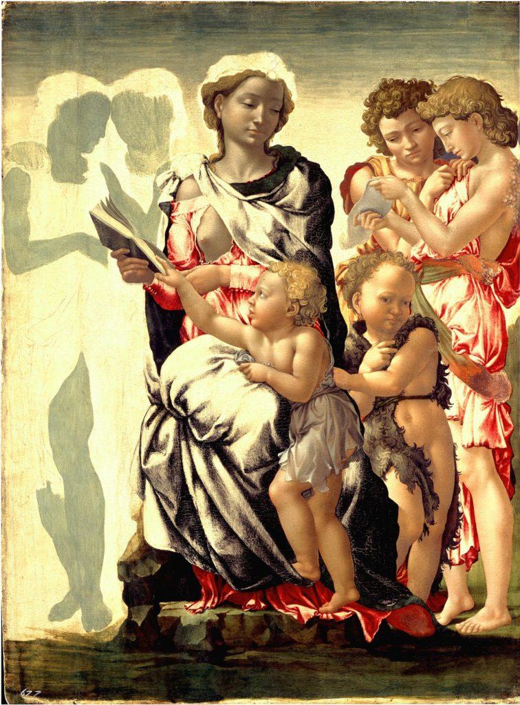 """La Madonna di Manchester"", Michelangelo, 1496 (National Gallery, Londra)."