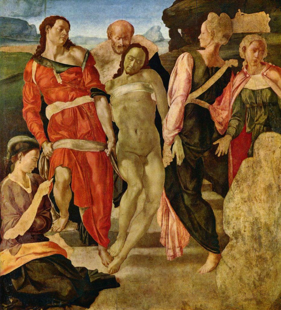 """ALT=""""arte incompiuta - deposizione di cristo - Michelangelo"""""""