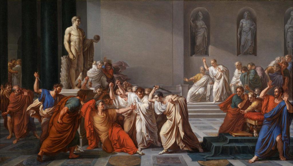 La Morte di Cesare V. Camuccini 1806 - Olio su tela