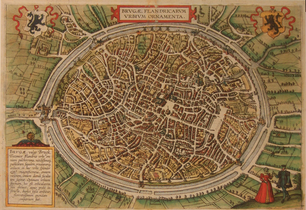 Piantina medievale di Bruges