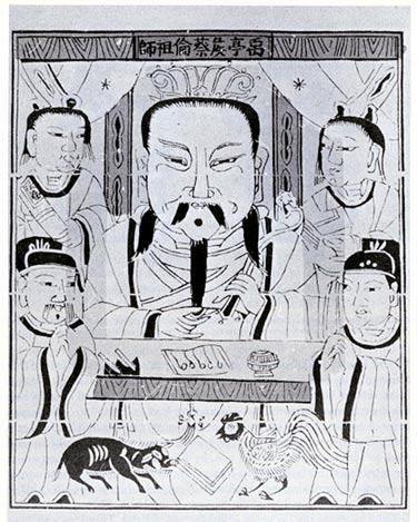 Invenzioni cinesi - Immagine raffigurante Cai Lun