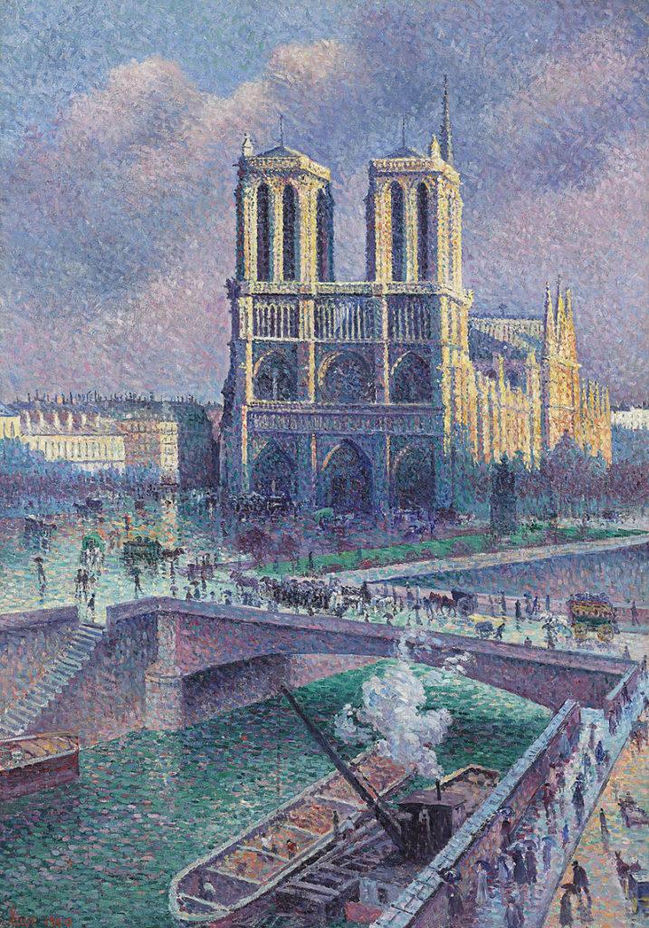 """ALT=""""Notre Dame de Paris - Maximilien Luce"""""""