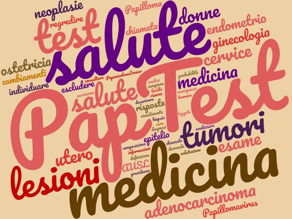 Pap test - Immagine di copertina - Word Cloud