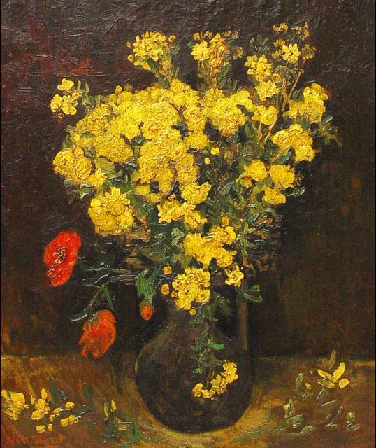 """ALT=""""Furti d'arte Van Gogh - Fiori di Papavero (I Papaveri)"""""""