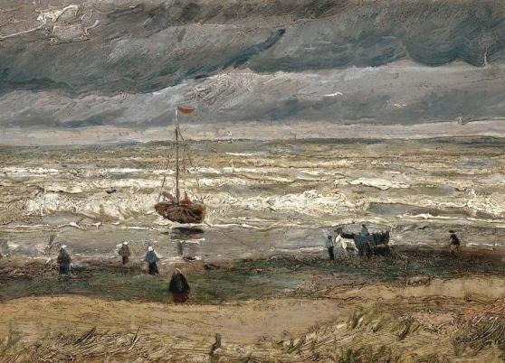 "ALT=""Furti d'arte Van Gogh - Spiaggia di Scheveningen durante un temporale"""