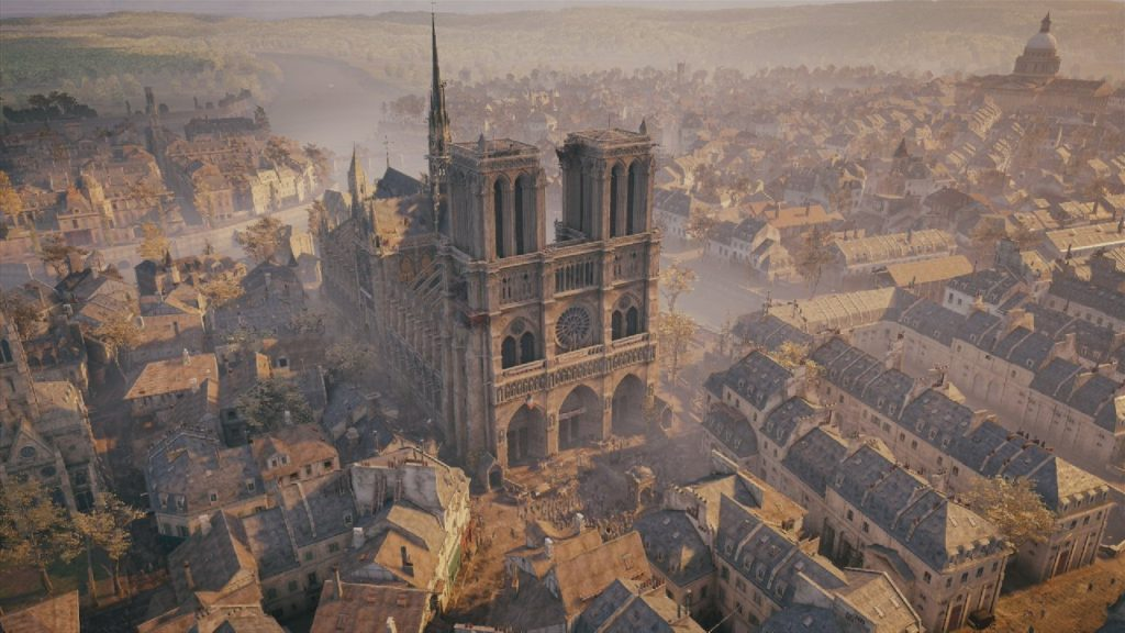 Immagine di Notre-Dame tratta da Assassin's Creed Unity