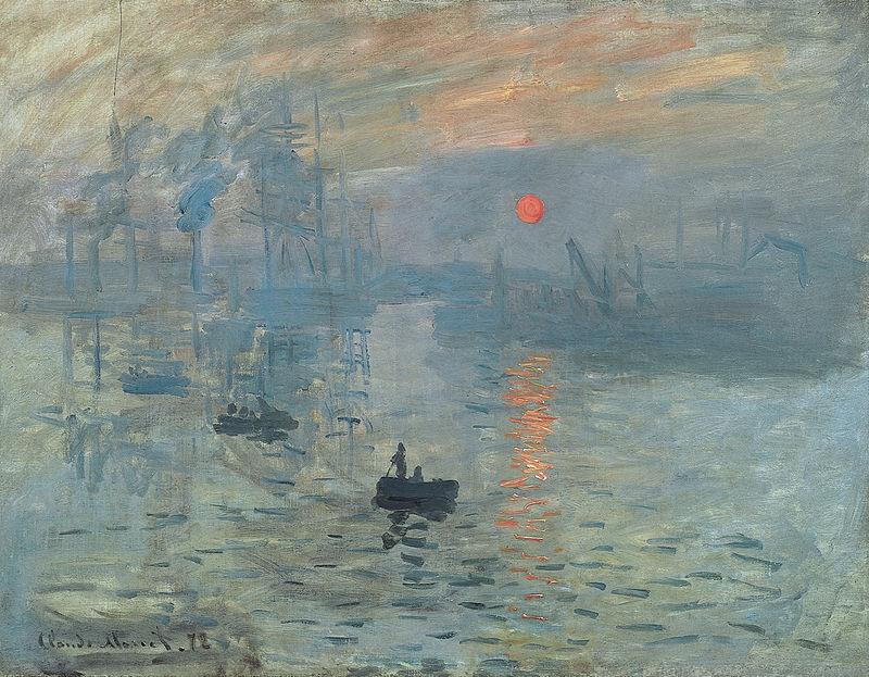 Impressione: al levar del sole, Claude Monet, 1872 (Musée Marmottan Monet, Parigi)