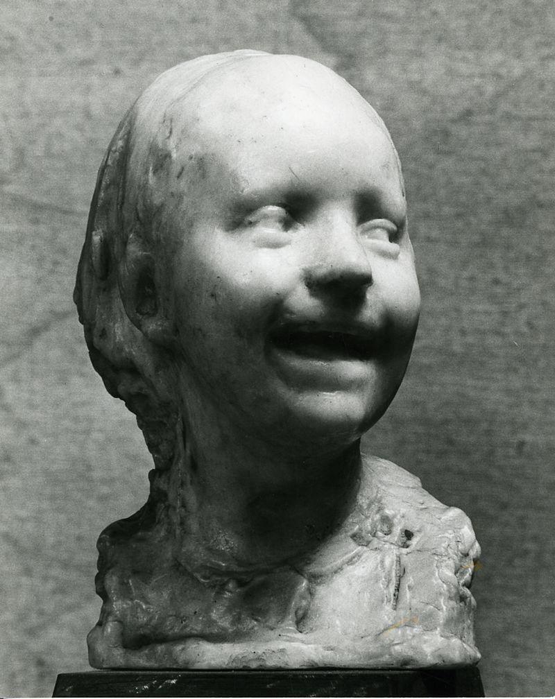 scultura impressionista bimba che ride