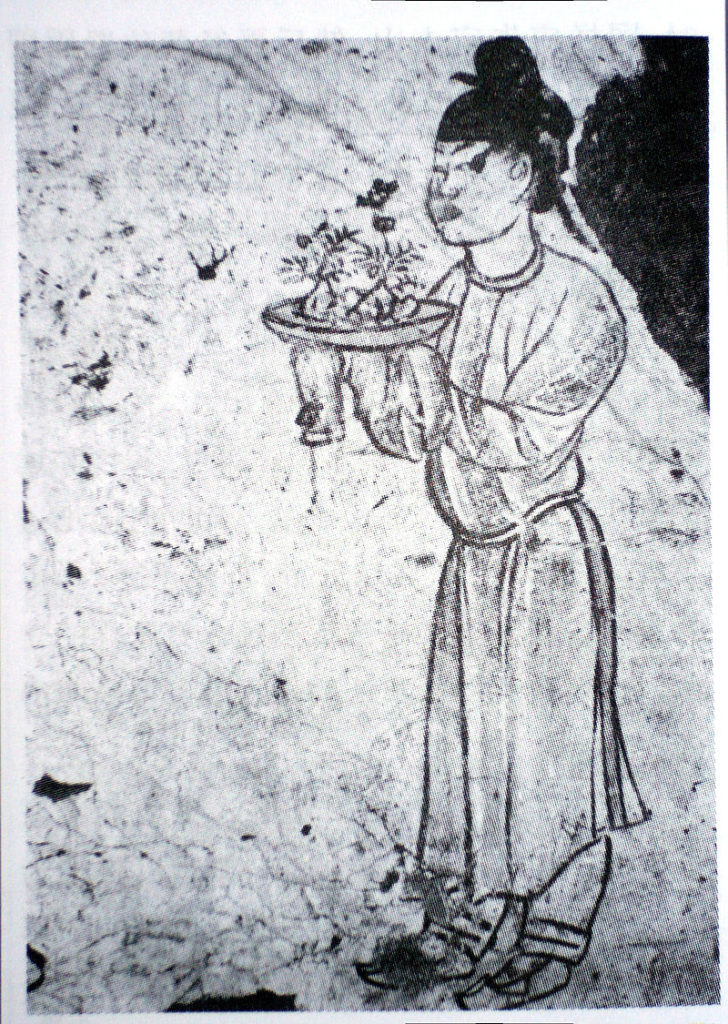 Tomba di Zhang Huai - raffigurazione di un bonsai