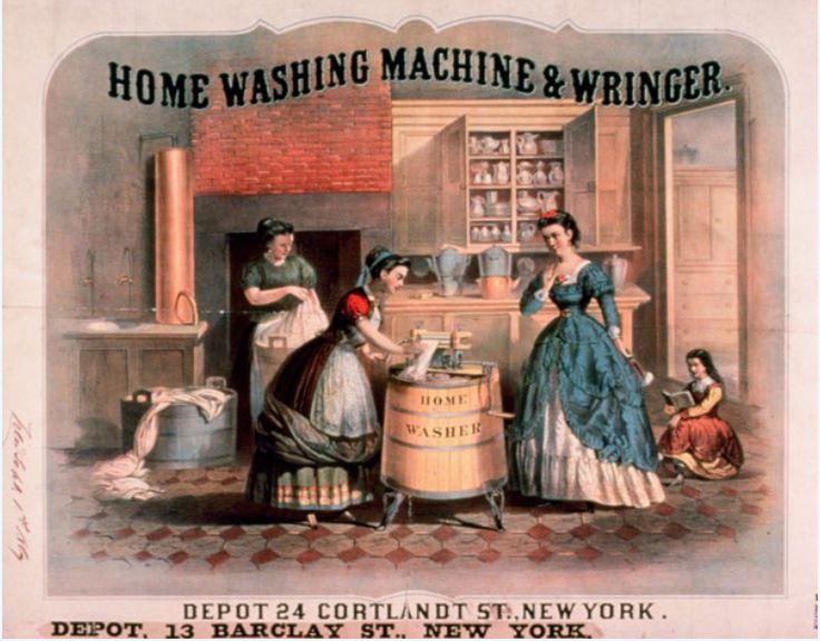 Lavatrice storica illustrazione