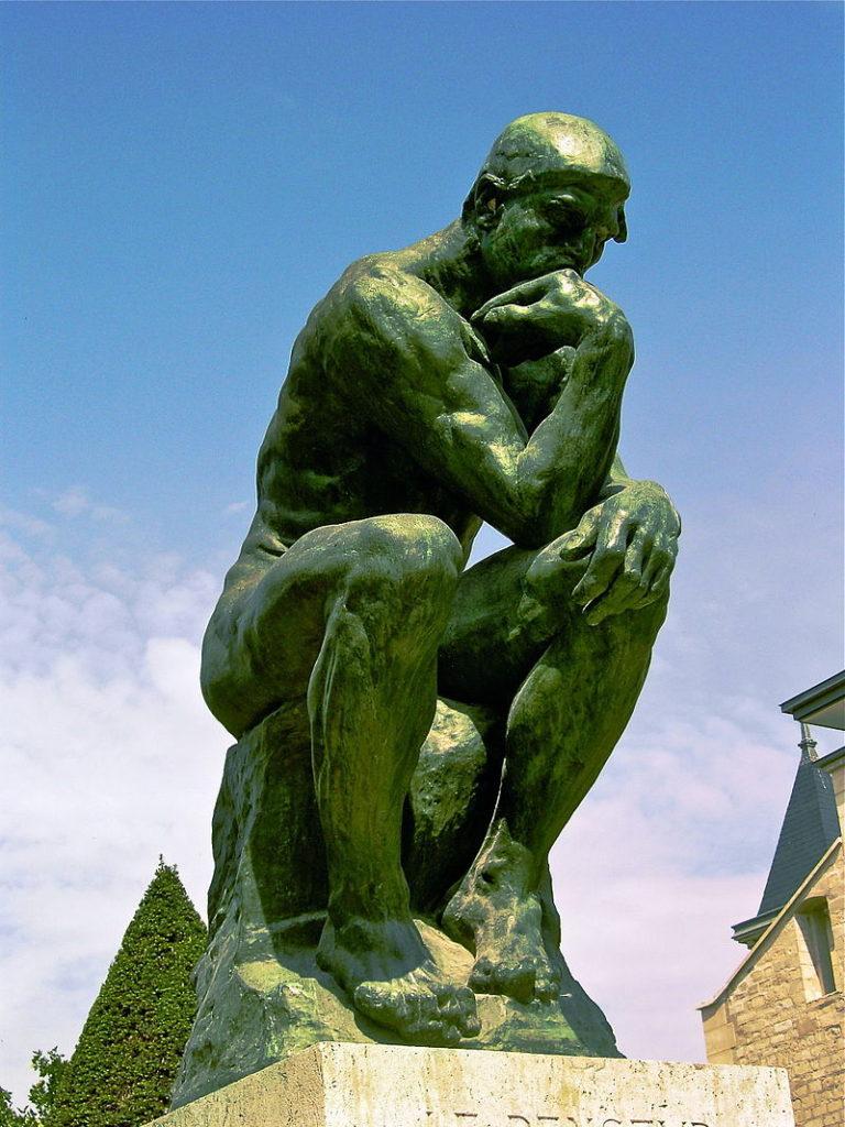 scultura impressionista Il Pensatore