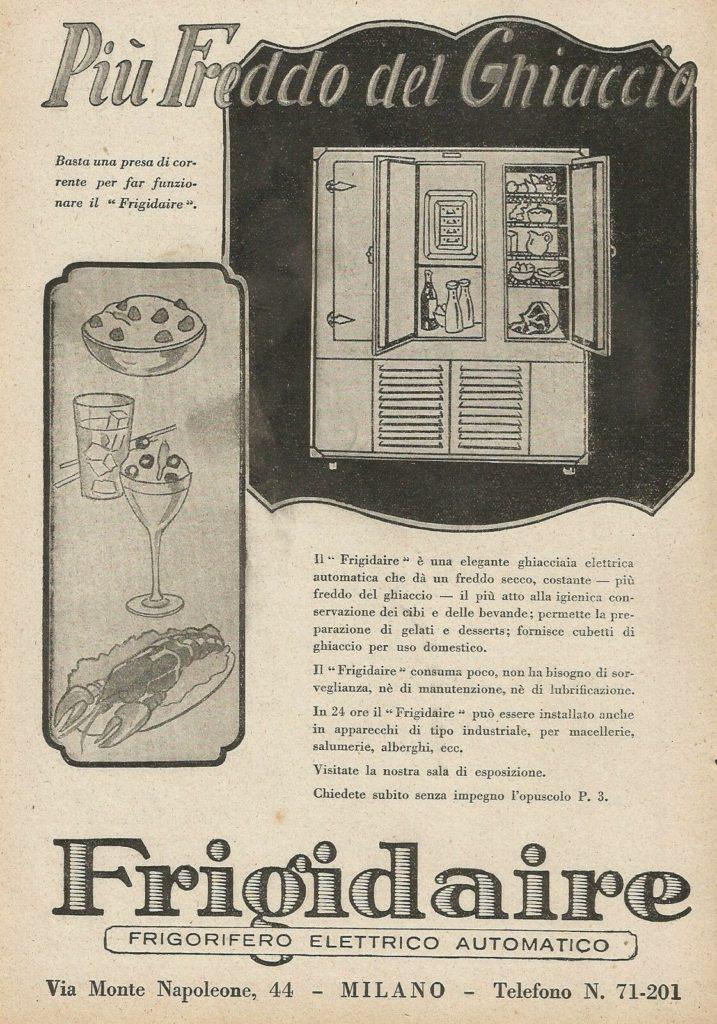 Stampa - Pubblicità d'epoca Frigidaire