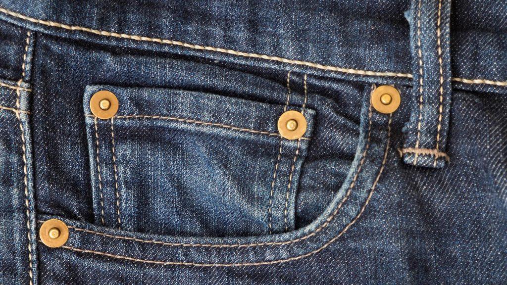 rivetti jeans in dettaglio