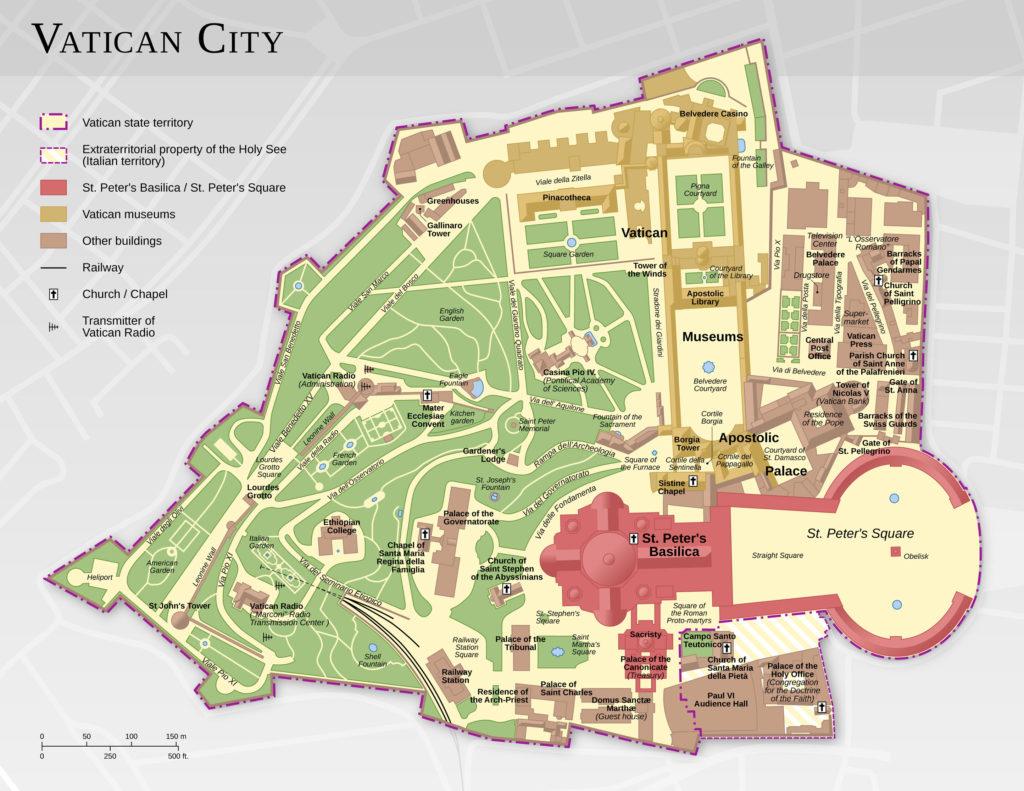 Mappa del Vaticano