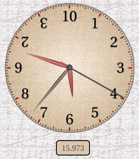 math shortcut: l'orologio dozzinale