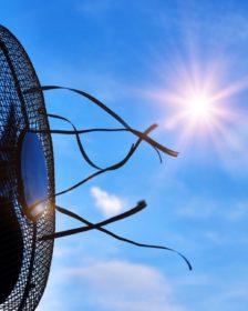 Come difendersi dal caldo - giornata di sole on ventilatore