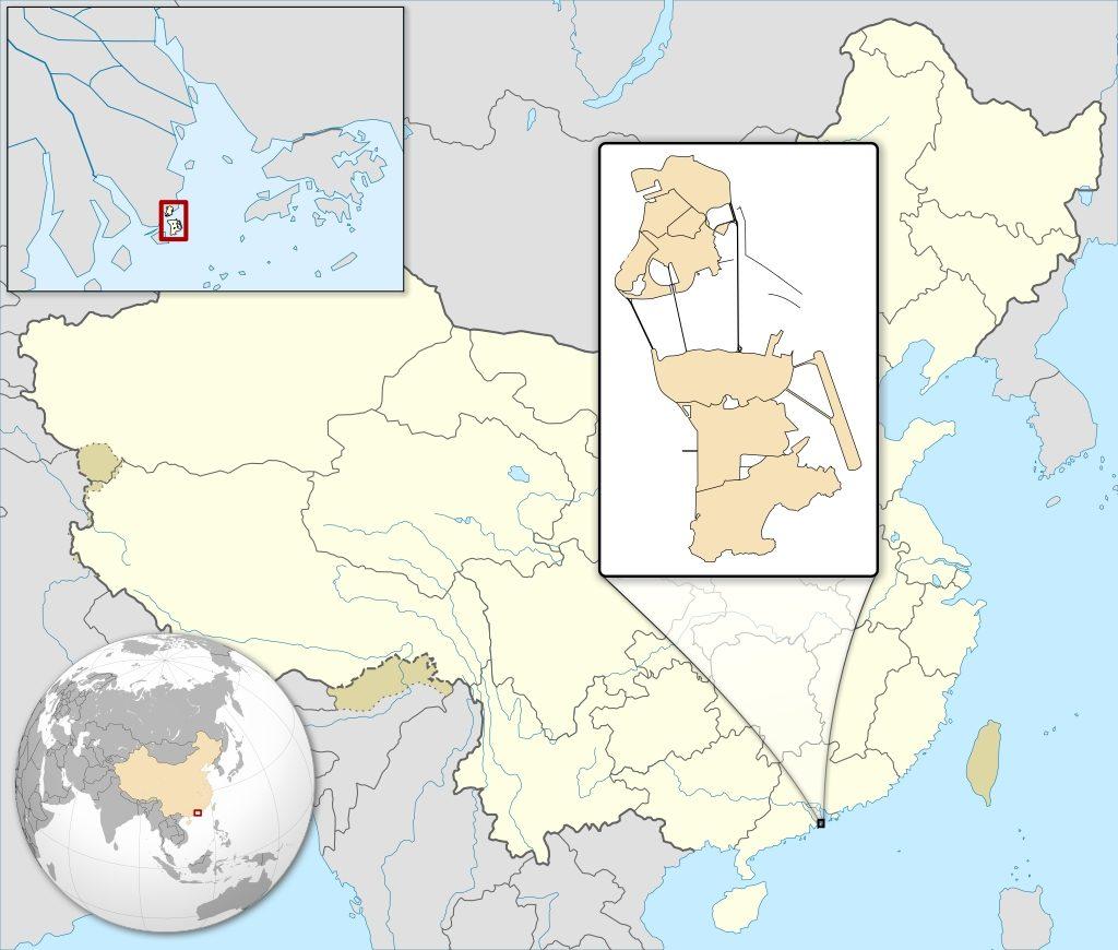 Cartina di Macao