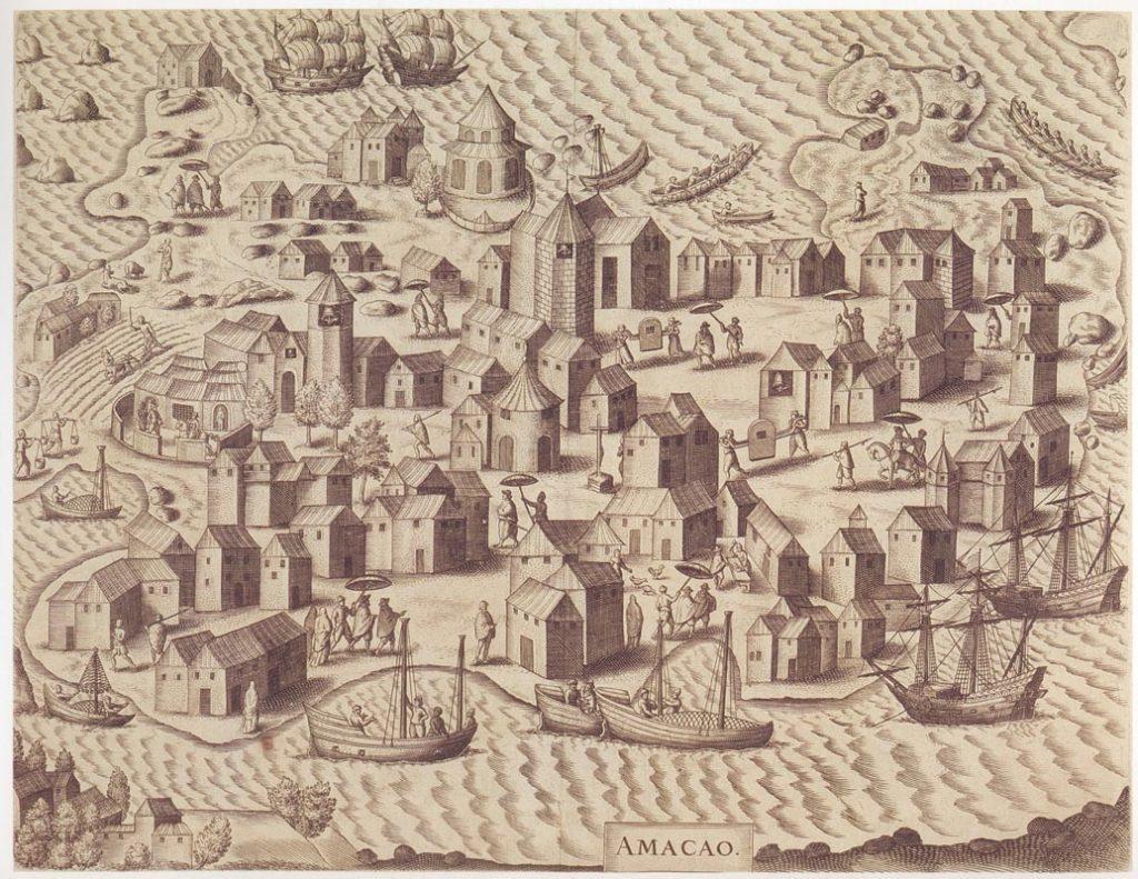 Illustrazione storica della città di Macao