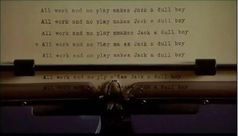 Messaggi nascosti in The Shining- la macchina da scrivere