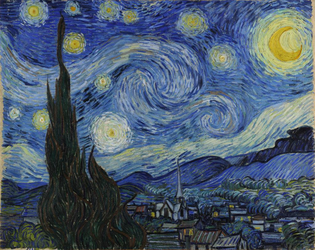 "ALT=""La notte stellata, Van Gogh luna"""
