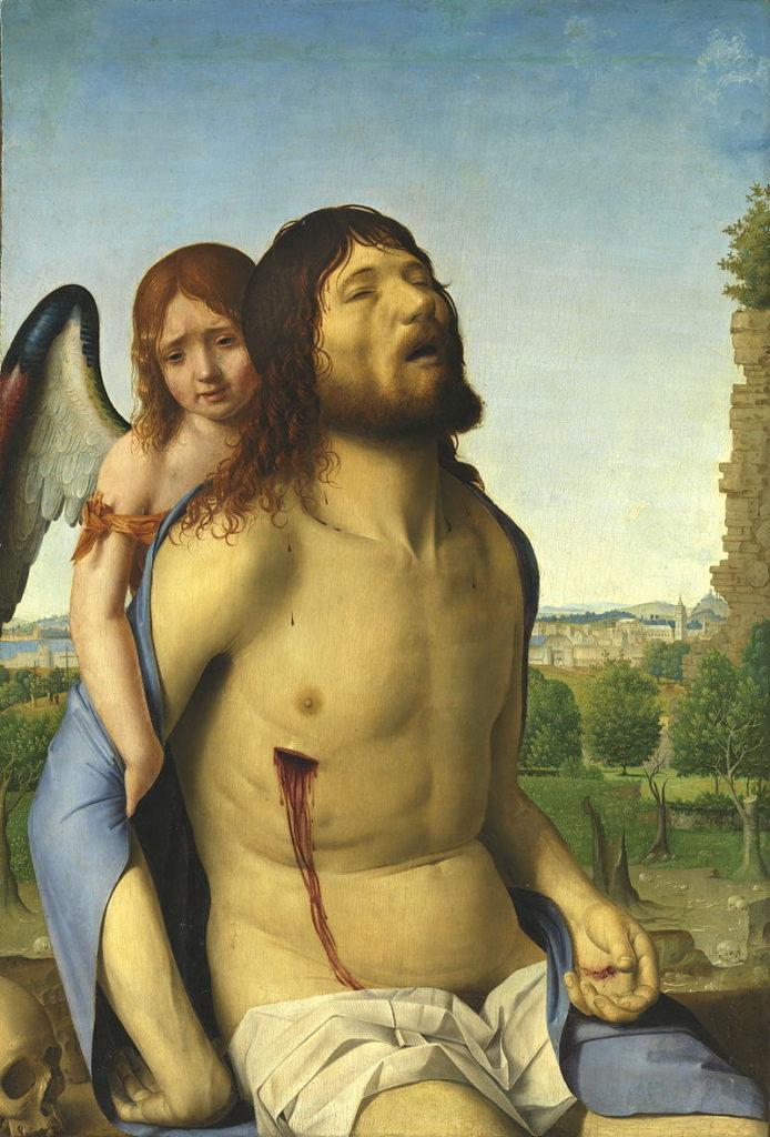 Cristo in pietà e un angelo Antonello da Messina