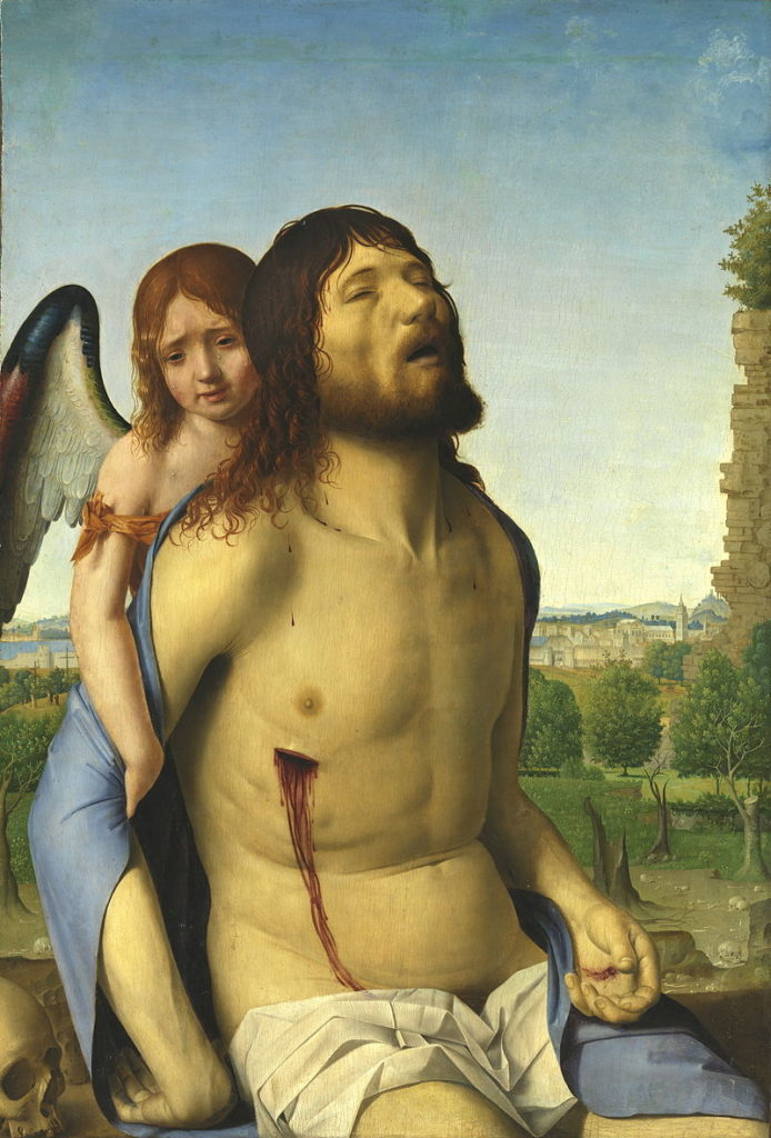Il Cristo in pietà sorretto da un angelo, Antonello da Messina.