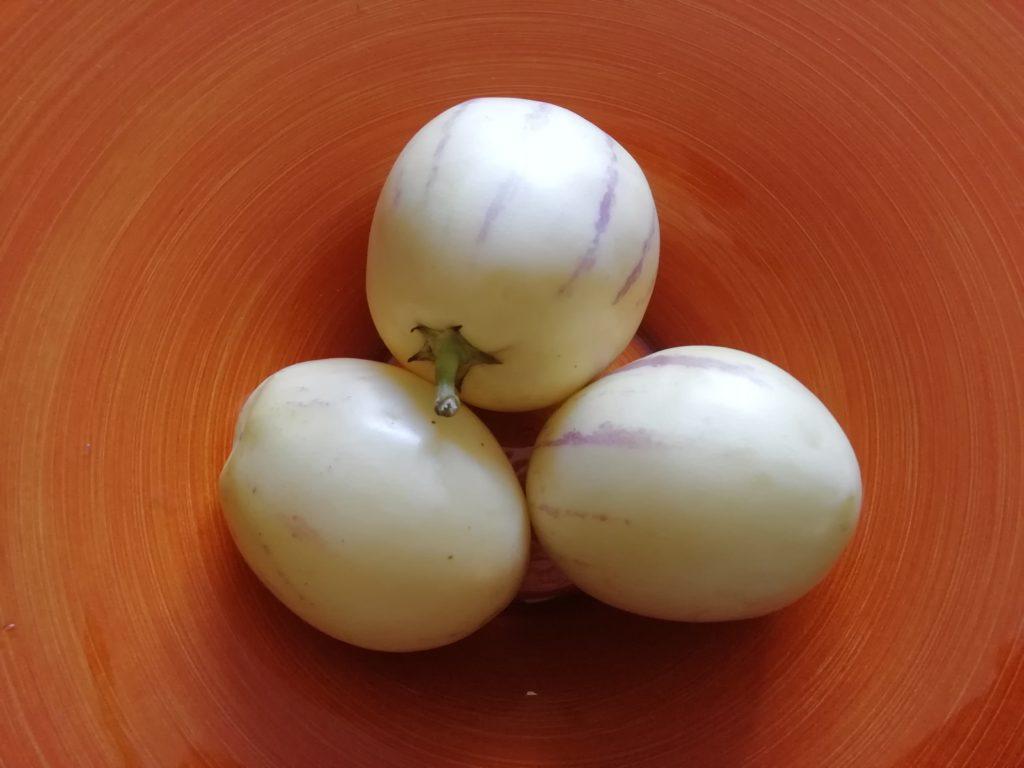 Melone Pepino o Melone Pera o Caciuma - Solanum muricatum in vassoio
