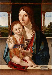 Madonna con bambino Jacobello da Messina