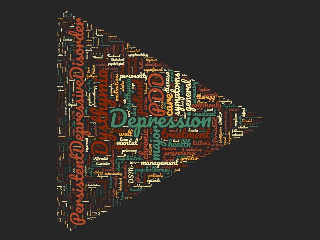 Disturbo Depressivo Persistente - Word Cloud - Copertina