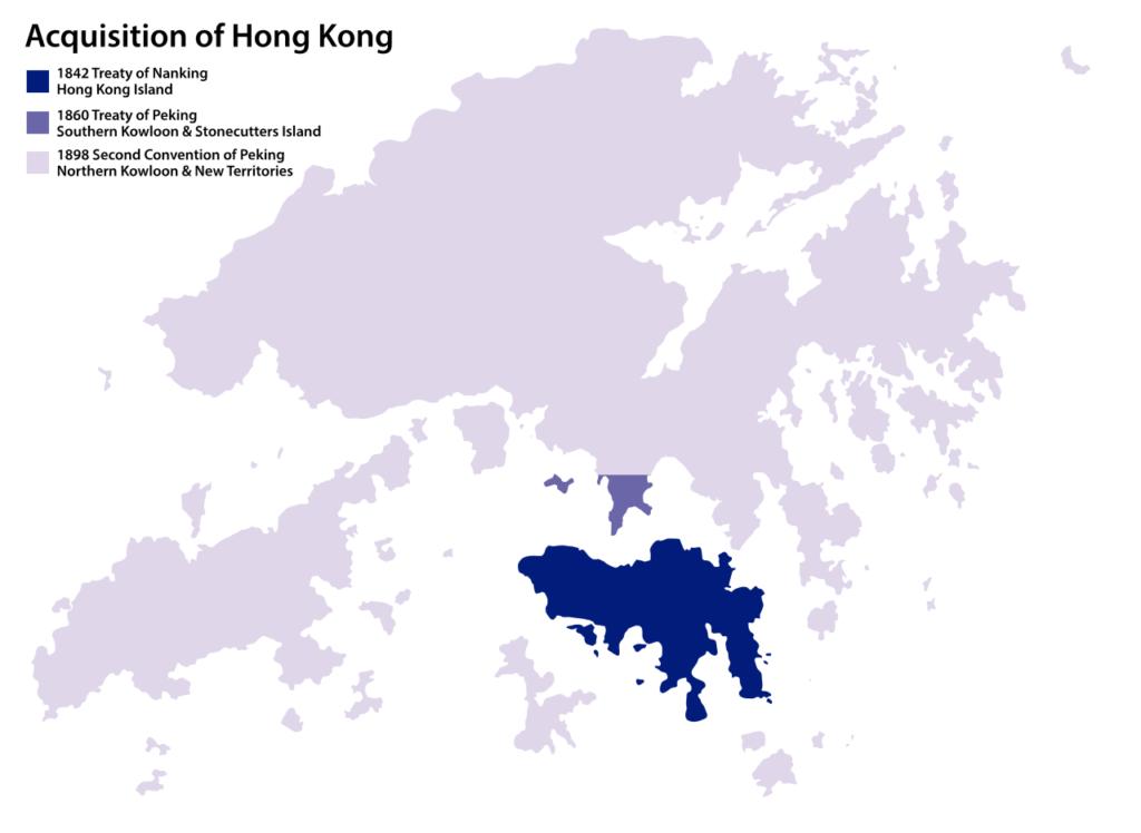 Conquiste inglesi nella regione di Hong Kong