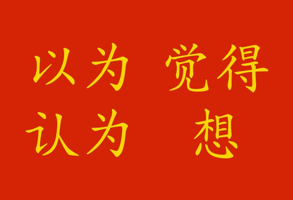 Verbo pensare in cinese