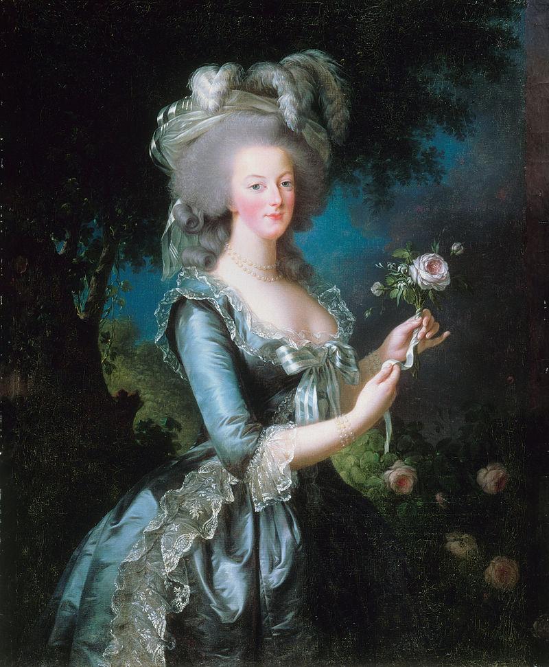 """ALT=Marie Antoinette a la rose"""""""